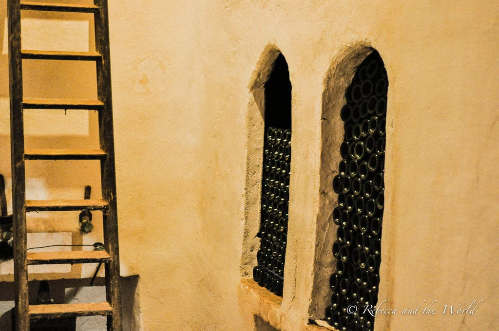 The wines at Bodegas Carlos San Pedro are all stored underground in an old cave
