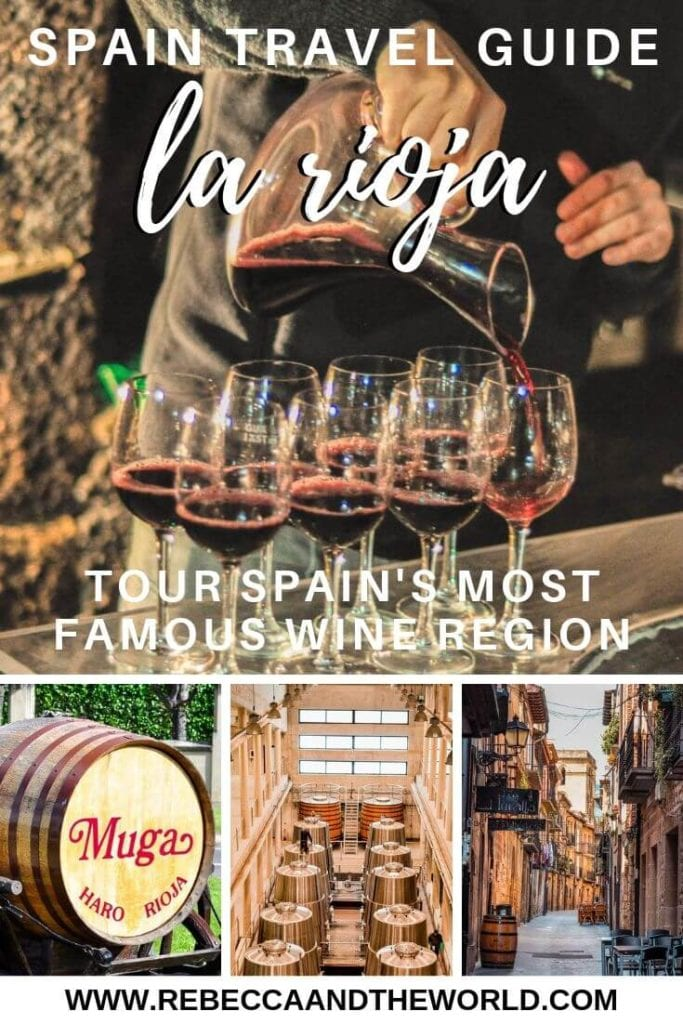 Planning a visit to the La Rioja wine region? Consider booking a La Rioja wine tour - an easy day trip from San Sebastian or Bilbao. Click through to read about what to expect on a day tour, as well as the best bodegas and wineries in La Rioja to visit to try Spain's famous Rioja wine. | #larioja #spain #spaintravel #winetour #wine