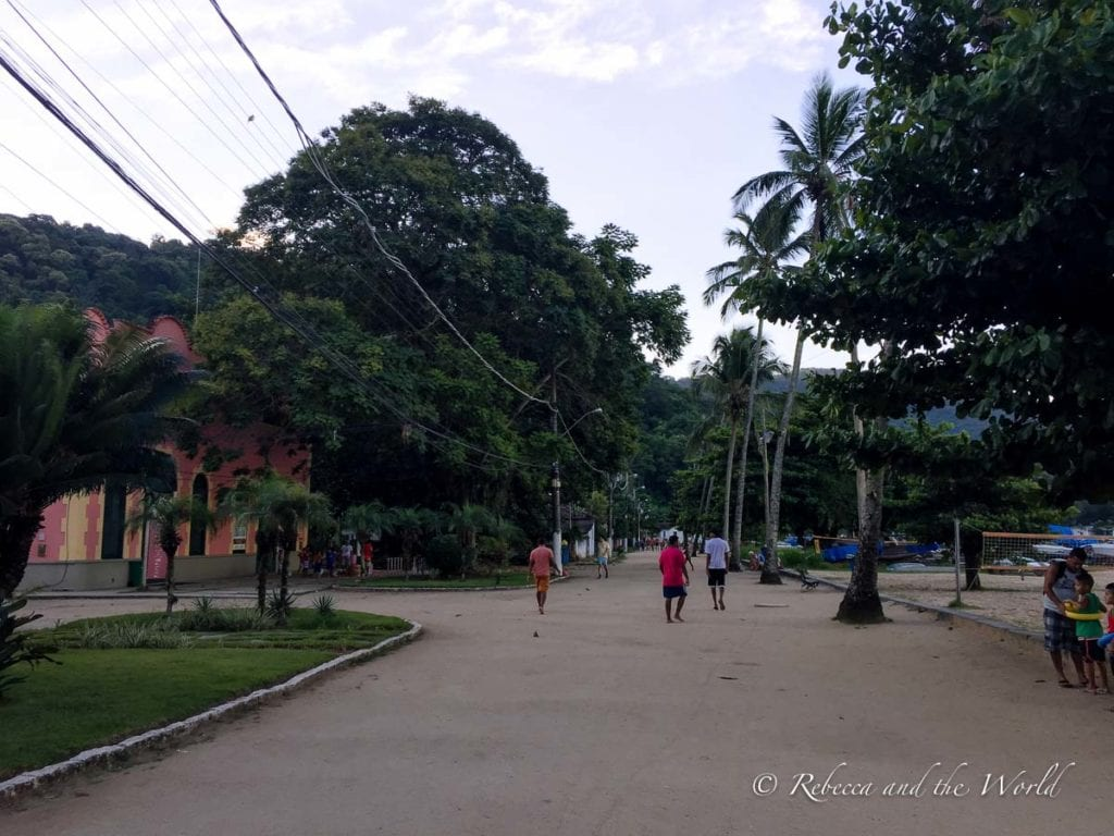 There are no cars on the streets of Ilha Grande, Brazil