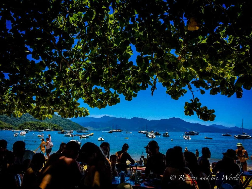 Enjoy the views while eating lunch or dinner at one of the many beachfront restaurants in Ilha Grande