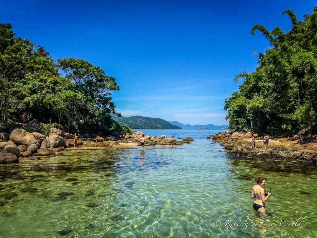 Explore Ilha Grande on a boat tour to one of the beaches around the island