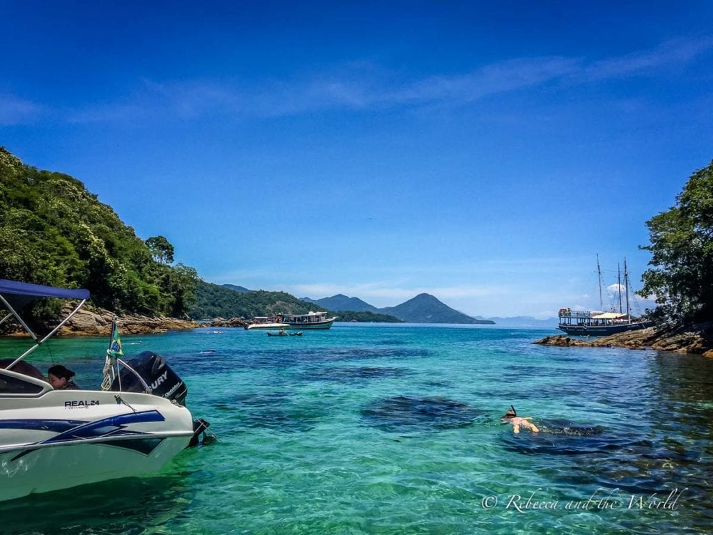 One of the best things to do in Ilha Grande is explore the beaches by boat