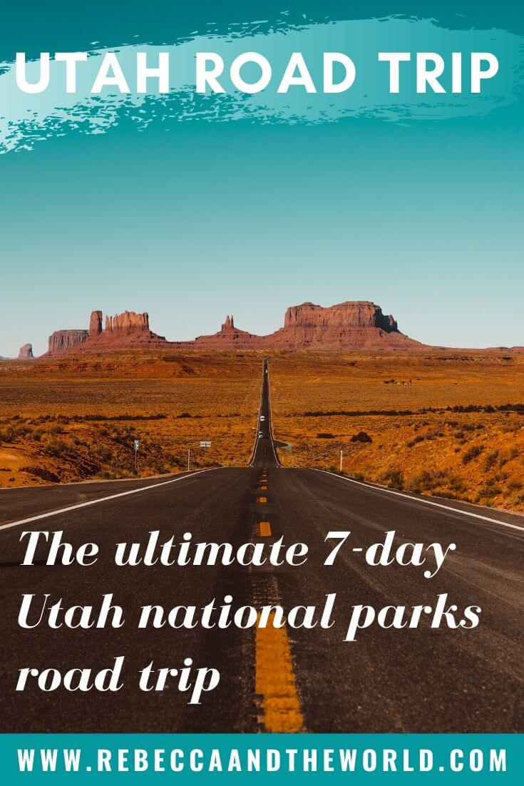 Want to see five national parks in a week? Try this 7-day Utah national parks road trip which takes you through Utah and Arizona! | #zionnp #brycecanyon #roadtrip #Utah #canyonlands #archesnp #Arizona #nationalparks #usatravel #capitolreefnp
