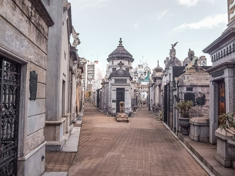 Recoleta Cemetery in Buenos Aires, Argentina, is fascinating to wander through