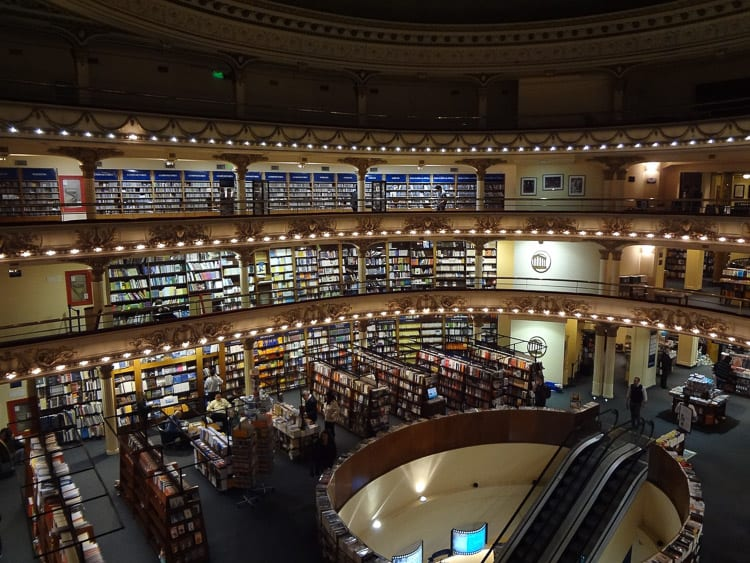 Regularly voted as one of the most beautiful bookstores in the world, El Ateneo Grand Splendid should be on your list of things to do in Buenos Aires, Argentina