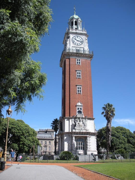 The Torre Monumental in Buenos Aires, Argentina, can be visited - there are great views from the top of the clock tower