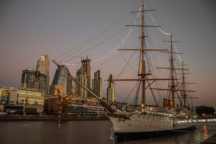 History lovers should visit the Fragata Sarmiento in Puerto Madero, Buenos Aires