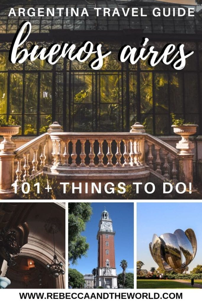Wondering what to do in Buenos Aires, Argentina? This list of more than 100 things to do includes restaurants, bars, museums, parks, gardens, historical sites and more! Click on through and save it for your trip to Buenos Aires! | #buenosaires #argentina #argentinatravel #buenosairesthingstodo #buenosairesitinerary #buenosaireswhattodo #southamerica #cityguide #travel