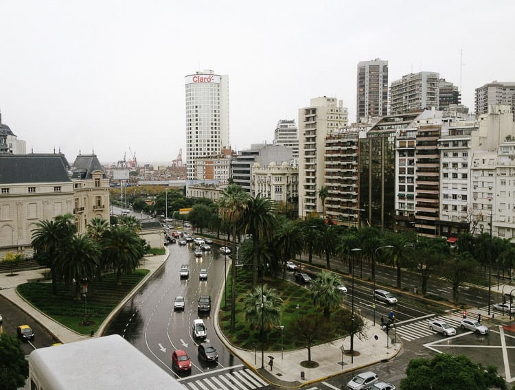 Avenida 9 de Julio in Buenos Aires, Argentina, is one of the widest roads in the world