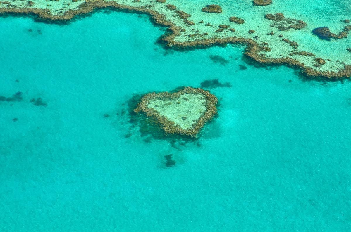 The Great Barrier Reef is visible from outer space and one of the most incredible things to see in Australia - from above and below!