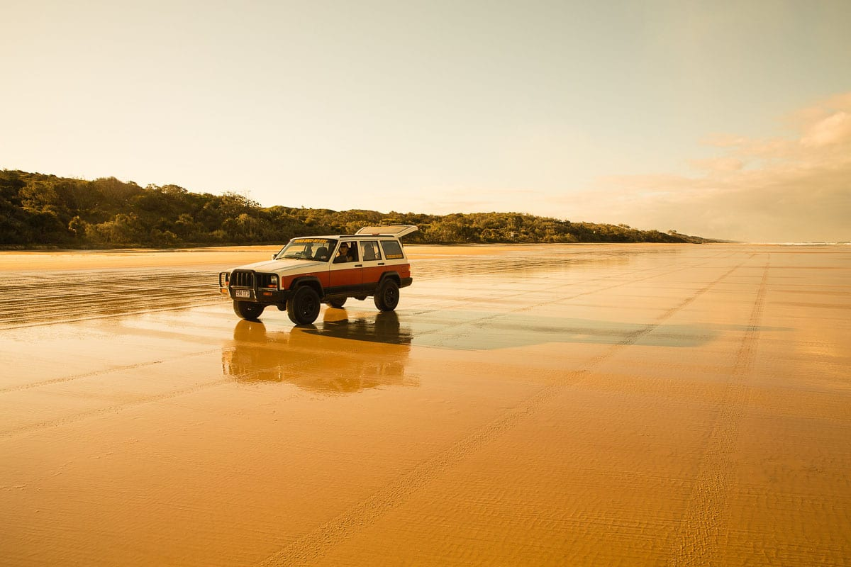 Fraser Island is the world's largest sand island and one thing for your Australia bucket list is to go four-wheel driving on the sand!