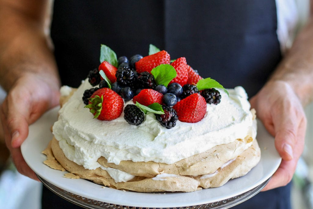 Pavlova is a delicious dessert you can eat in Australia (although New Zealanders will claim that they created it first)