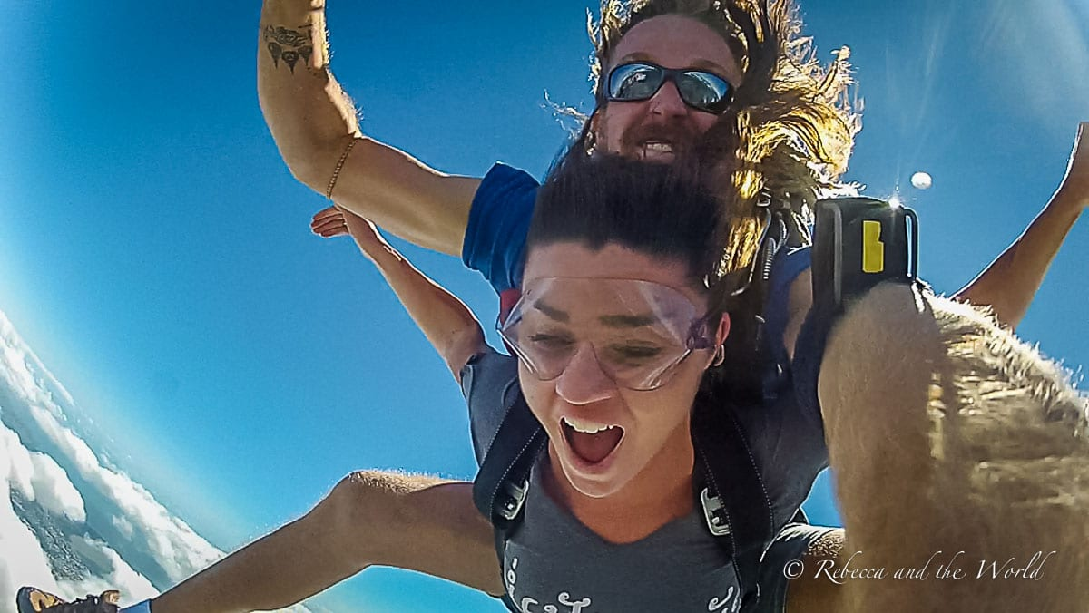 You can skydive at many places in Cairns, Australia (although don't expect to look good in photos doing it!)