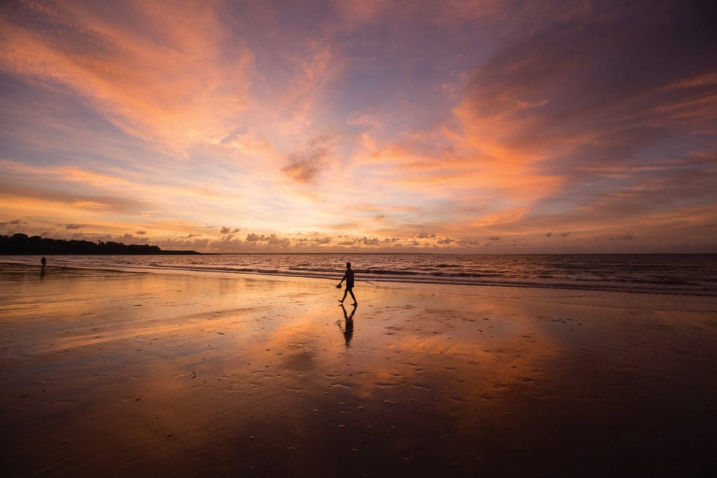 The sunsets over the Timor Sea are incredible - watch them from the Mindil Beach Market In Darwin, Australia