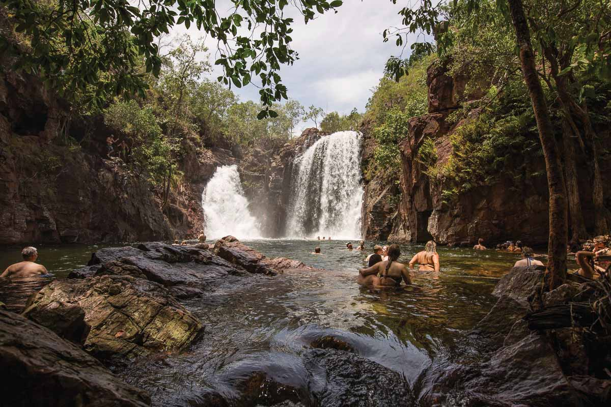 Not only are their termite mounds in Litchfield National Park in Australia, but tonnes of waterfalls and watering holes to visit
