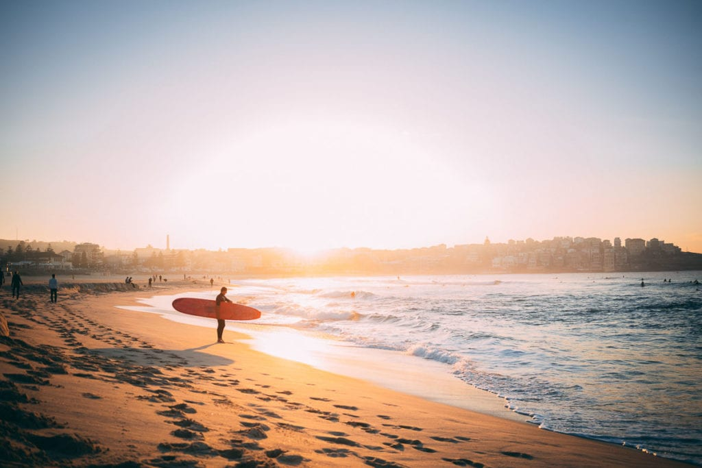 Bondi Beach is one of the most famous beaches in Australia