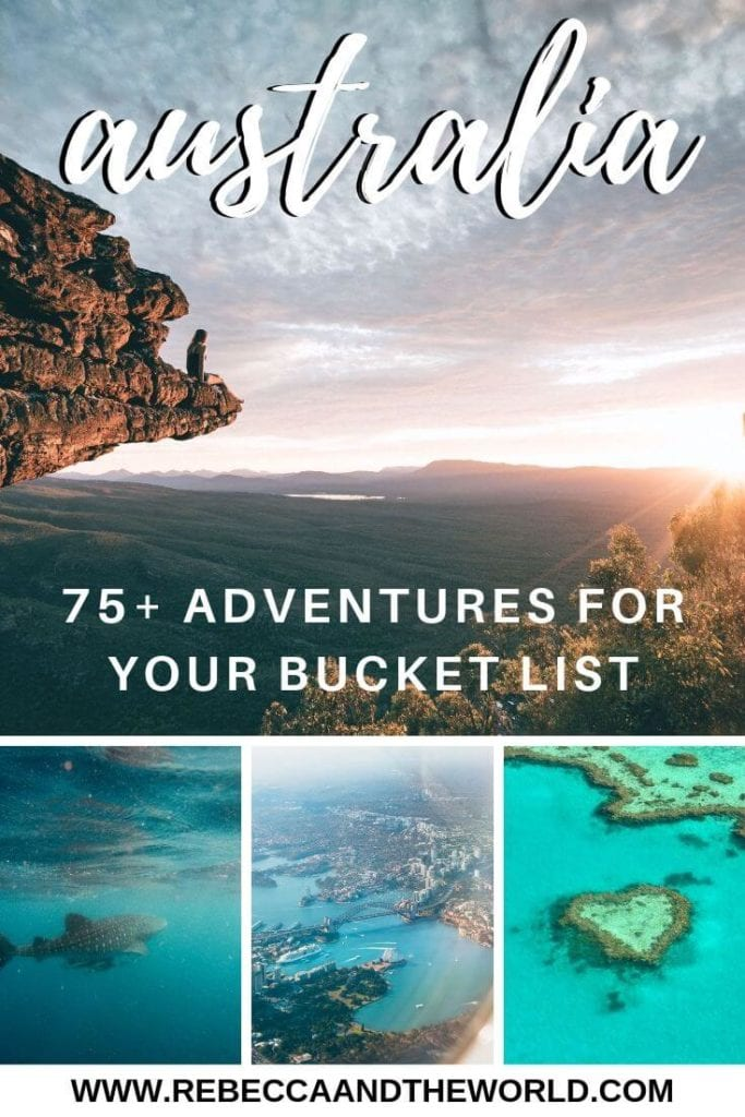 This ultimate Australia bucket list has more than 75 things to do in Australia. Start planning your trip Down Under today with these adventures, activities and must-dos in the best places to visit in Australia! #Australia #AustraliaTravel #ThingstodoinAustralia #AustraliaBucketList #TravelInspiration #AustraliaTravelIdeas