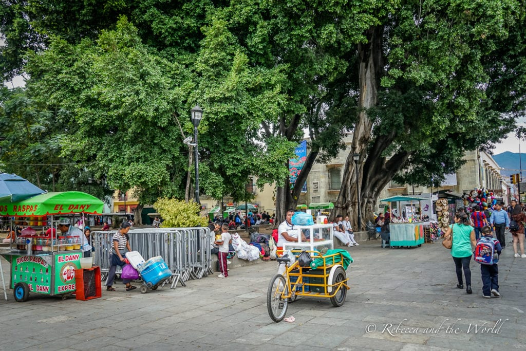 The Zocalo is one of the best places to visit in Oaxaca day or night