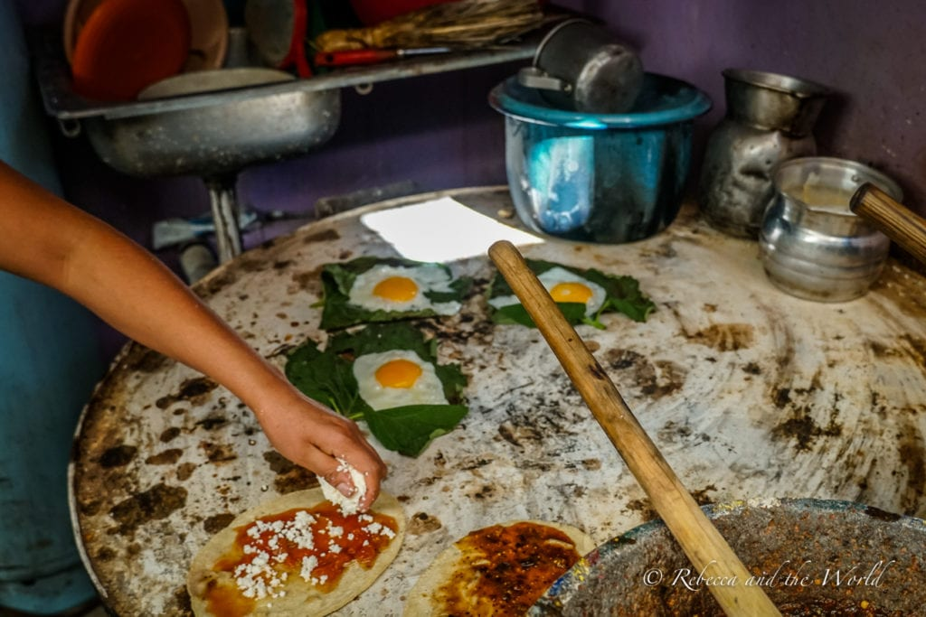 The food in Oaxaca is incredible - plan your Oaxaca itinerary around trying all the specialties of the region