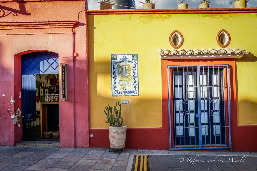 Oaxaca has several colourful buildings and home