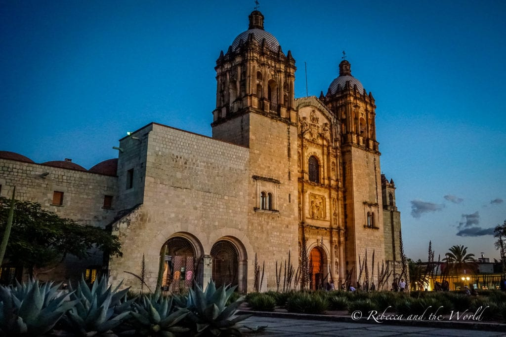 The Templo de Santo Domingo is a Baroque church that's stunning to visit - it's one of the best things to do in Oaxaca