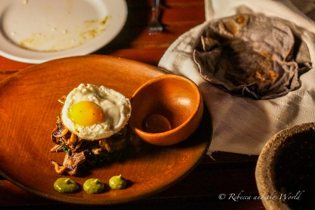 Oaxaca food is delicious and Casa Oaxaca showcases local ingredients in their dishes