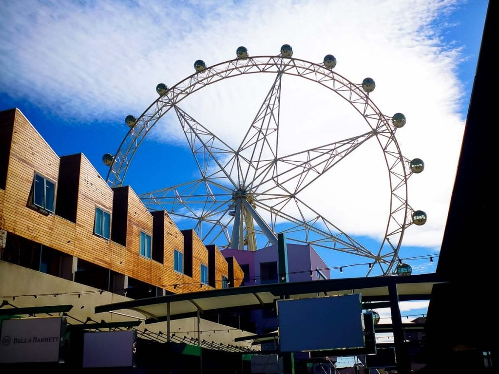 Take a ride on the Melbourne Star for great views of the city