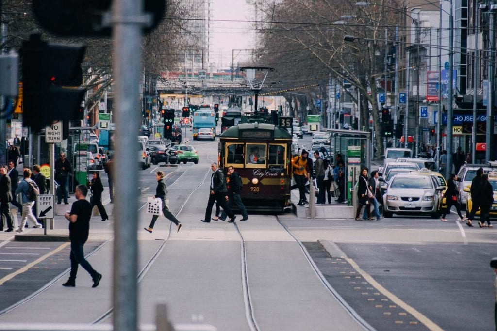 Melbourne's tram system is a great way to get around - make sure to add the free City Circle Tram to your Melbourne bucket list