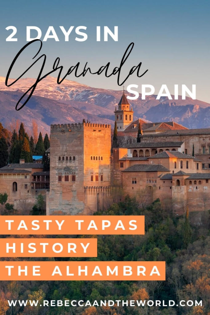 One of the most beautiful cities I've ever visited, there is so much to see and do in Granada in two days. This guide to spending 2 days in Granada highlights the best sights, eats and sleeps. | #spain #granada #andalucia #spanishfood #tapas #alhambra #itinerary #granadathingstodo