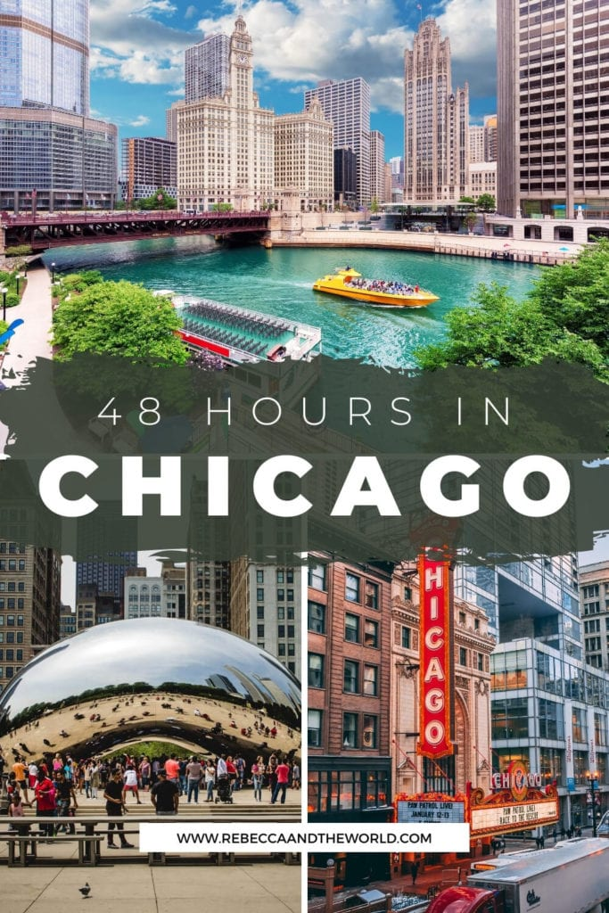 As the USA's 3rd largest city, it's hard to squeeze everything into 48 hours in Chicago - but it is possible with some careful planning. Here's what to do, see and eat on a weekend in Chicago. | #chicago #USAtravel #ChicagoItinerary #Illinois #ThingsToDoInChicago #WeekendInChicago