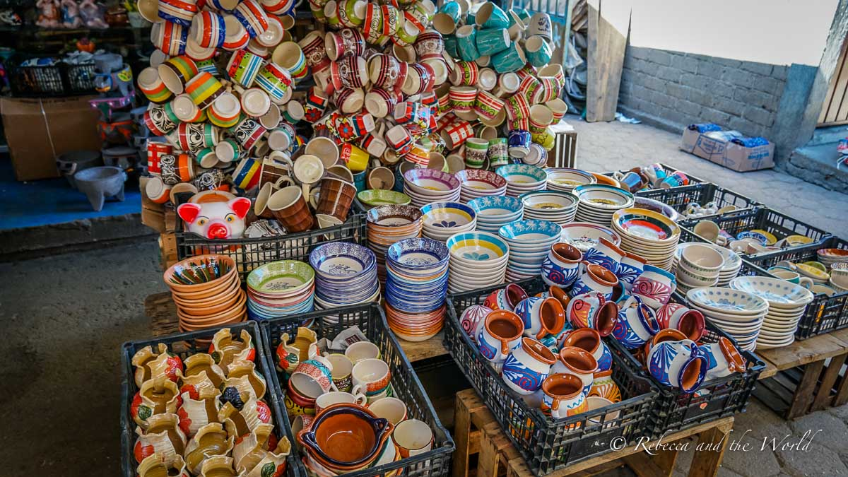 There are so many gorgeous things to buy when traveling to Oaxaca - from pottery to hand-stitched blouses, to chocolate and rugs, you'll find amazing souvenirs to take home
