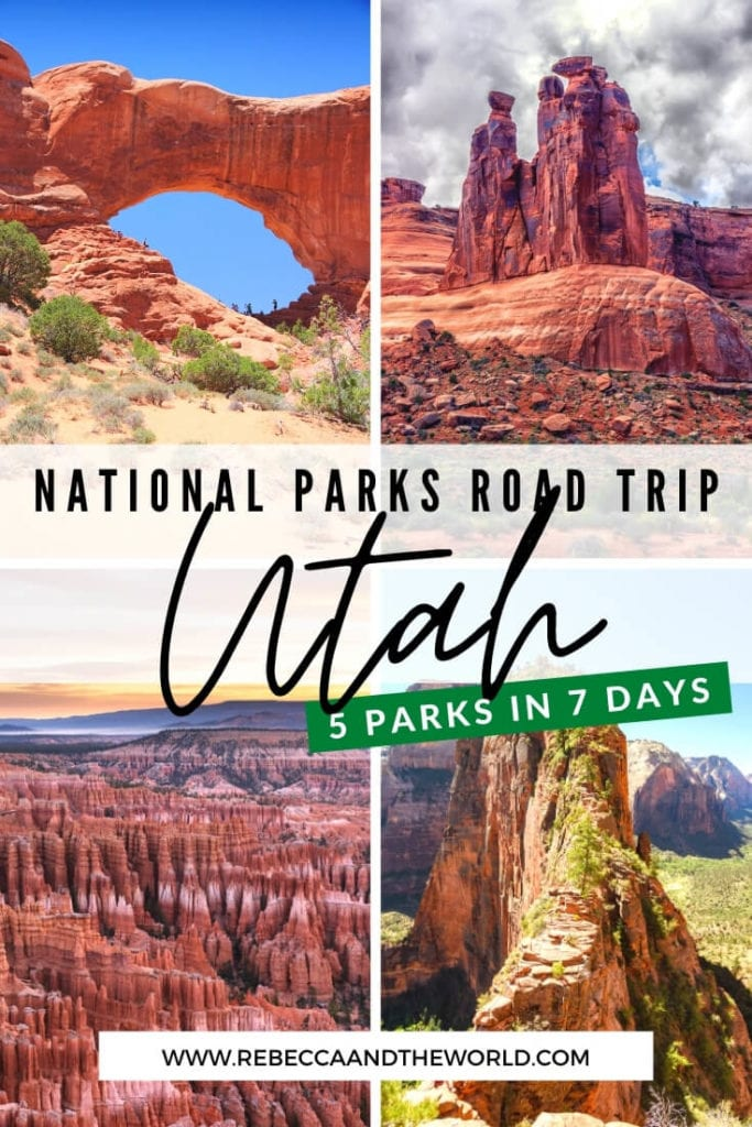 Want to see five national parks in a week? Try this 7-day Utah national parks road trip which takes you through Utah and Arizona!   #zionnp #brycecanyon #roadtrip #Utah #canyonlands #archesnp #Arizona #nationalparks #usatravel #capitolreefnp