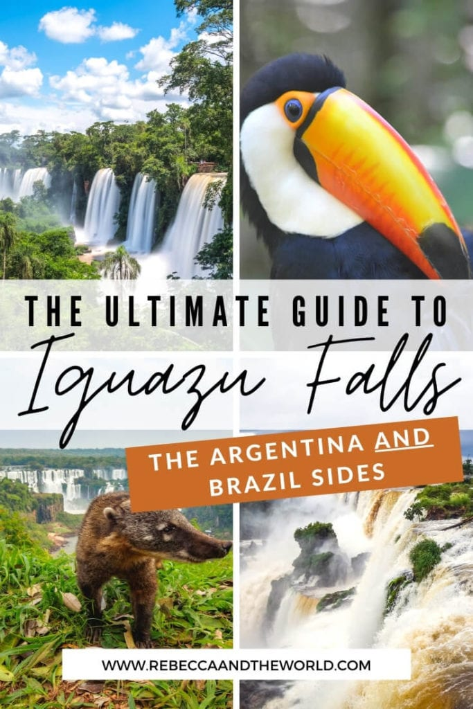 Should you visit Iguazu Falls Argentina or Iguazu Falls Brazil? I say both! Read on for the ultimate guide to visiting Iguazu Falls, including what to see and do both sides of the waterfalls, how to get to Iguazu Falls and where to stay near Iguazu Falls. | #argentina #brazil #iguazufalls #waterfalls #puertoiguazu #fozdoiguazu #naturalwonders