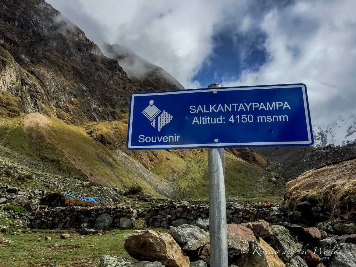 The Salkantay Trek is high-altitude hiking, so make sure to pack the right medications and come prepared