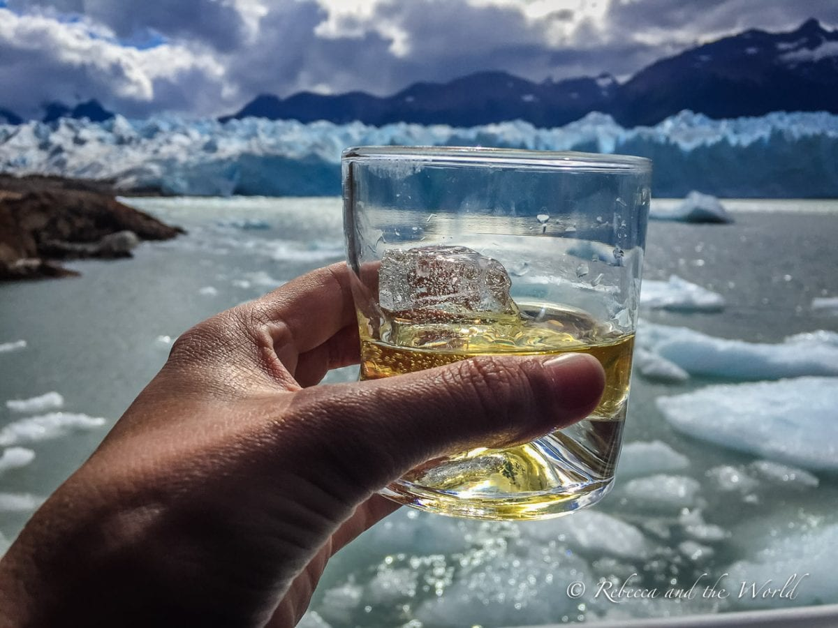 Many boat rides in Perito Moreno Glacier end with a glass of whiskey with ice from the glacier