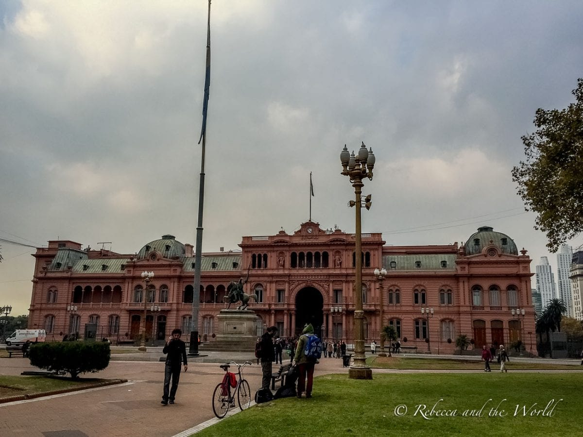 The Casa Rosada is Argentina's White House and you can visit it on a guided tour