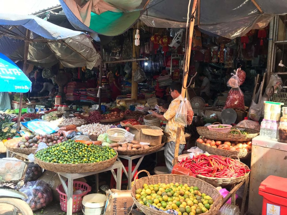 Markets are a great place to shop in Siem Reap to save money, according to expats Tanya and Andy Korteling