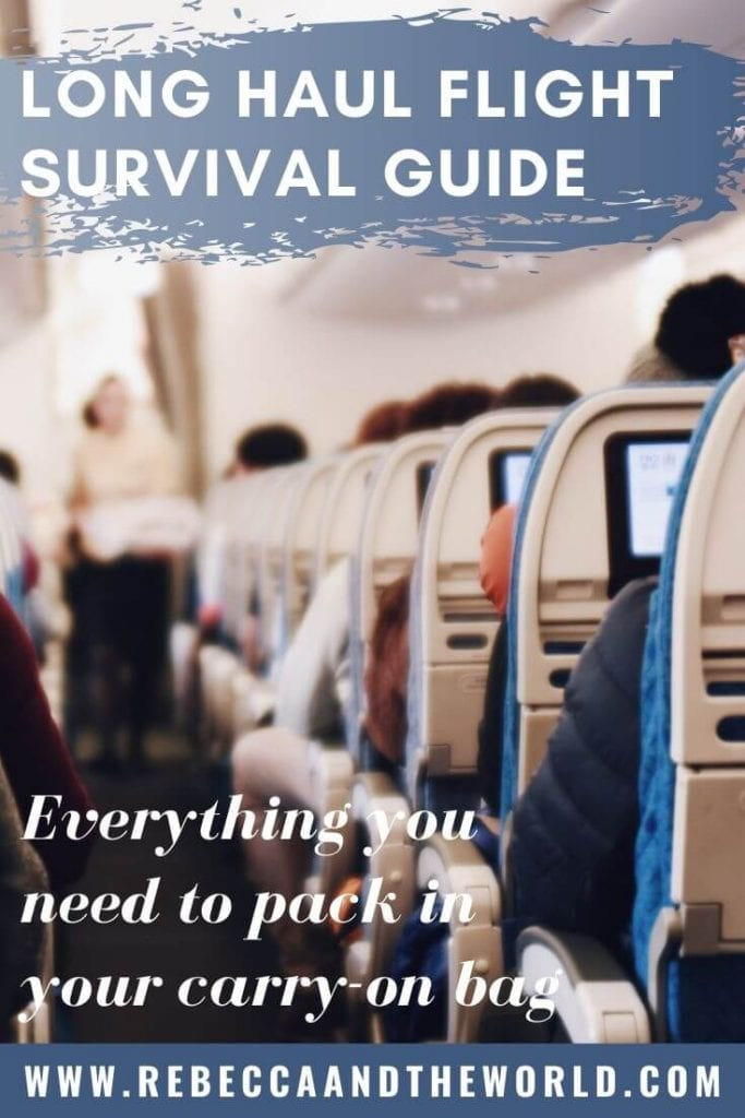 Got a long flight coming up? Pack these long haul flight essentials to make the trip more comfortable. Tips from a frequent flyer. | #carryonbag #packinglist #longhaulflight #flightessentials #frequentflyer