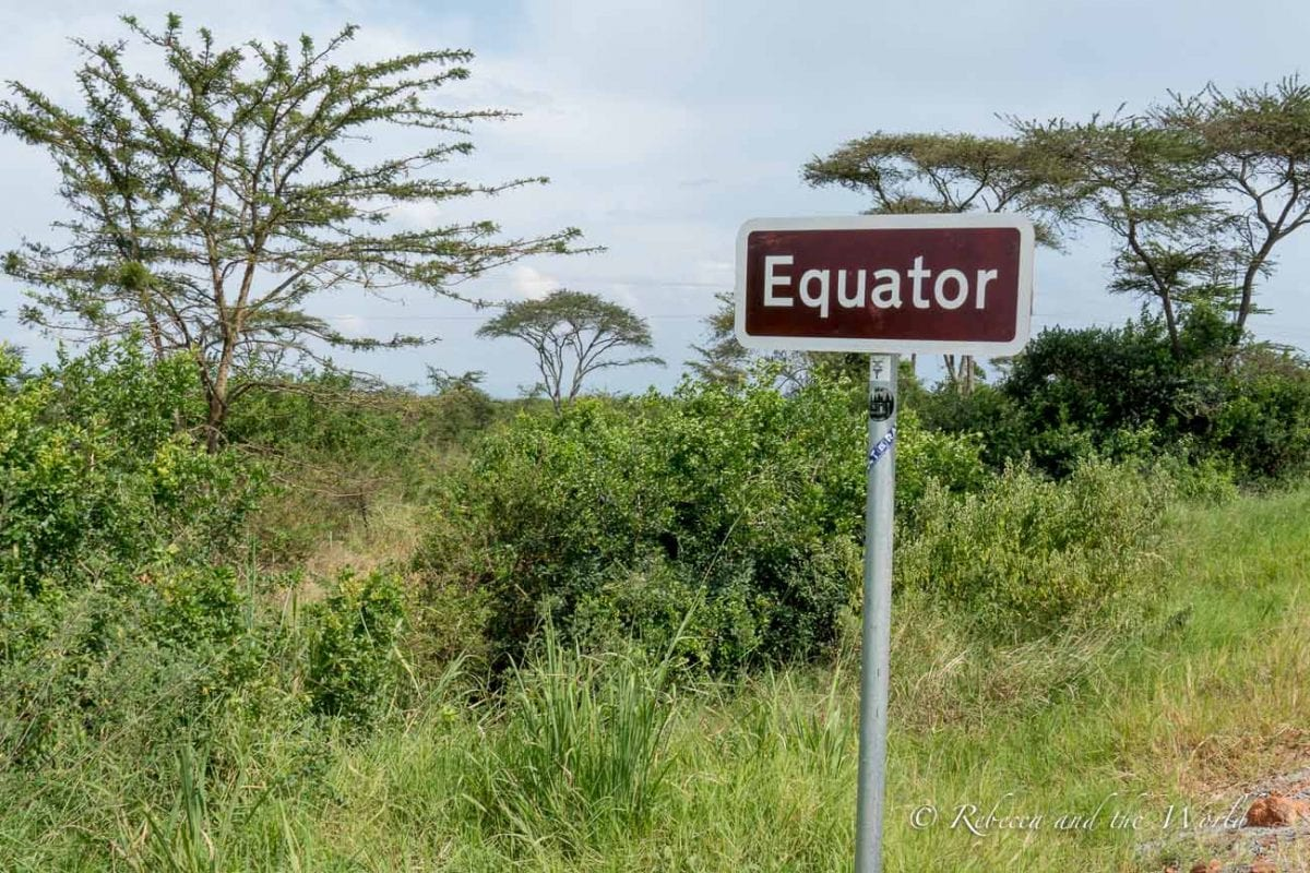 The equator cuts through Uganda and there are signposts along major highways