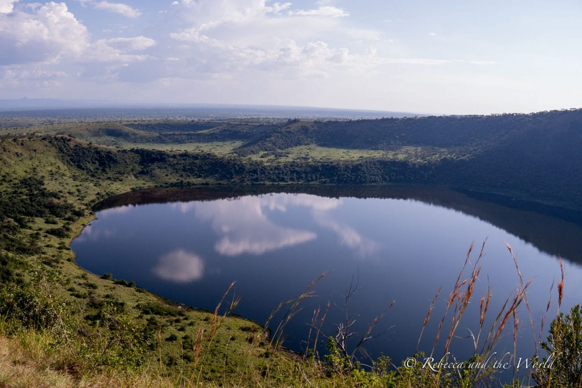 The Crater Drive in Uganda's Queen Elizabeth National Park is stunning