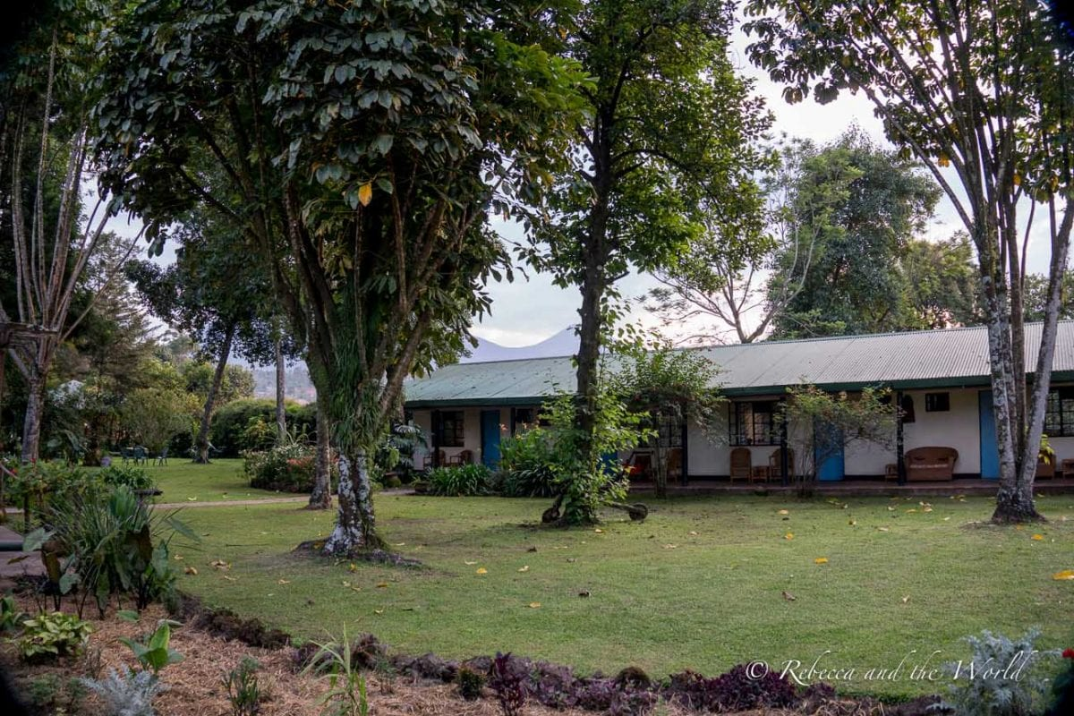 The gardens at Travellers Rest Hotel in Kisoro are a mini oasis