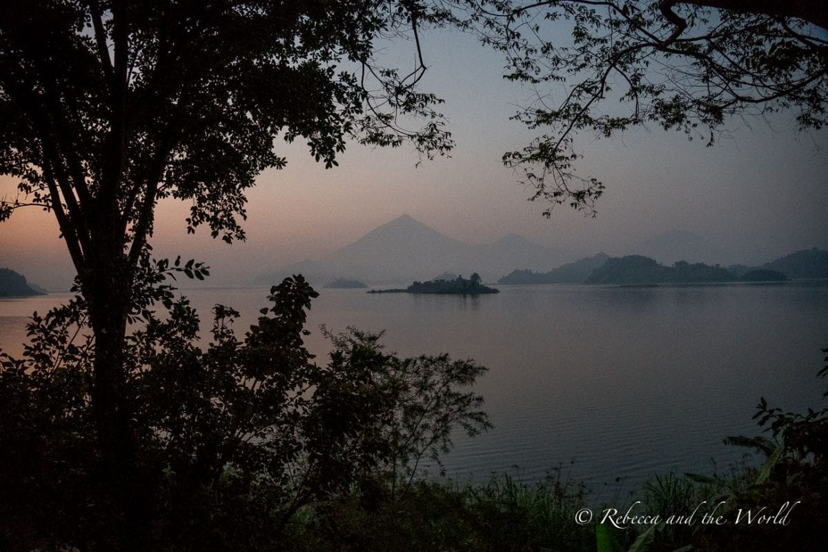 The view of Lake Mutanda from Mutanda Lake Resort in Uganda