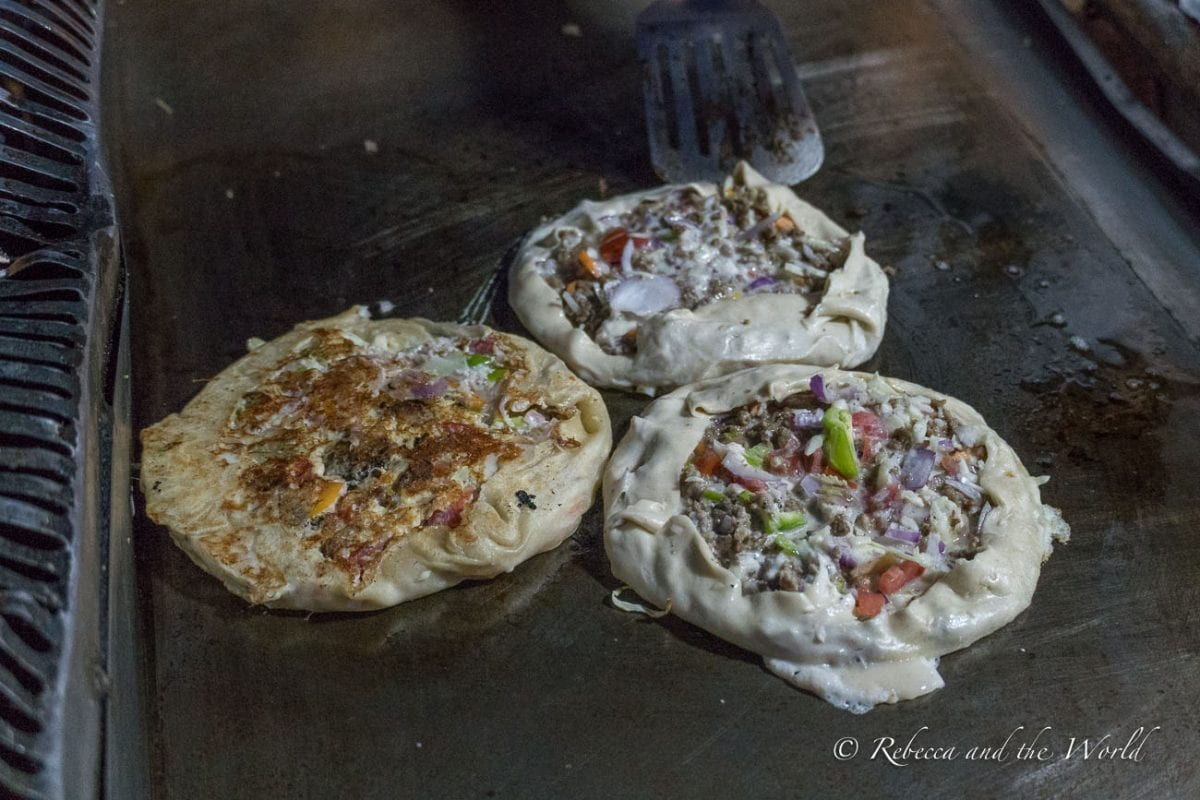 Zanzibar pizza is a local specialty and a must-try when you visit Zanzibar