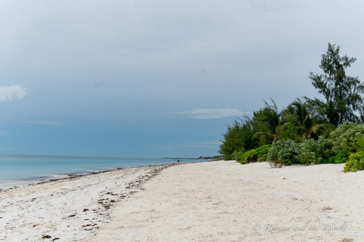 One of the best beaches in Zanzibar is Jambiani, known for its chilled, local vibe