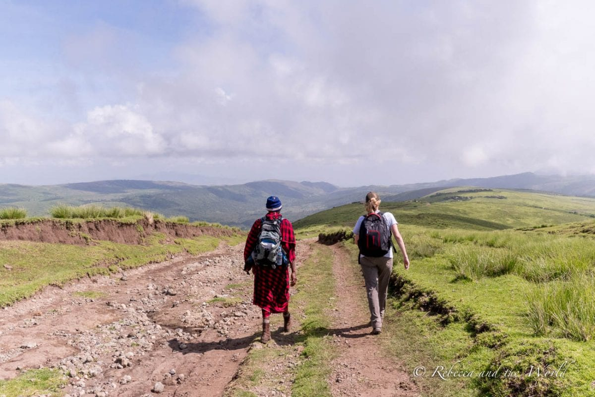 One of the most incredible things to do in Tanzania is a 3-day hike from Ngorongoro to Lake Natron