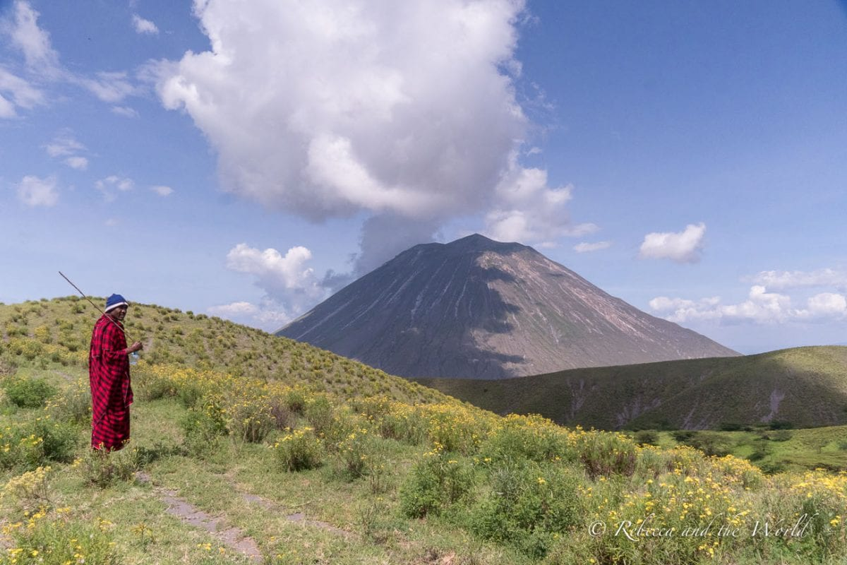 Walking past Ol Doinyo Lengai, Tanzania's only active volcano, is a highlight of the hike from Ngorongoro to Lake Natron
