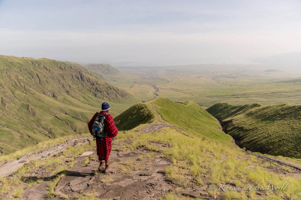 One of the best things to do in Tanzania is a hike from Ngorongoro to Lake Natron