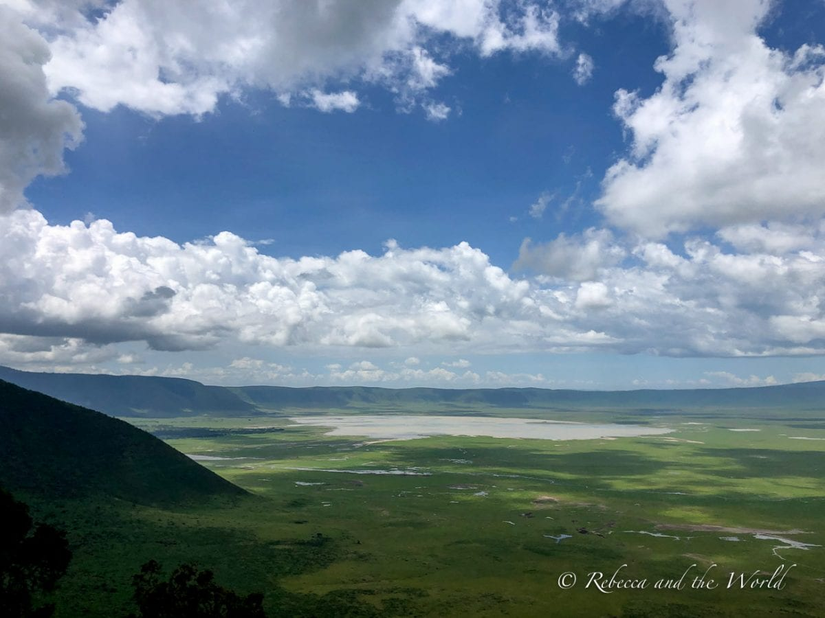 The Ngorongoro Crater in Tanzania is a huge caldera caused by a volcanic eruption more than 2 million years ago