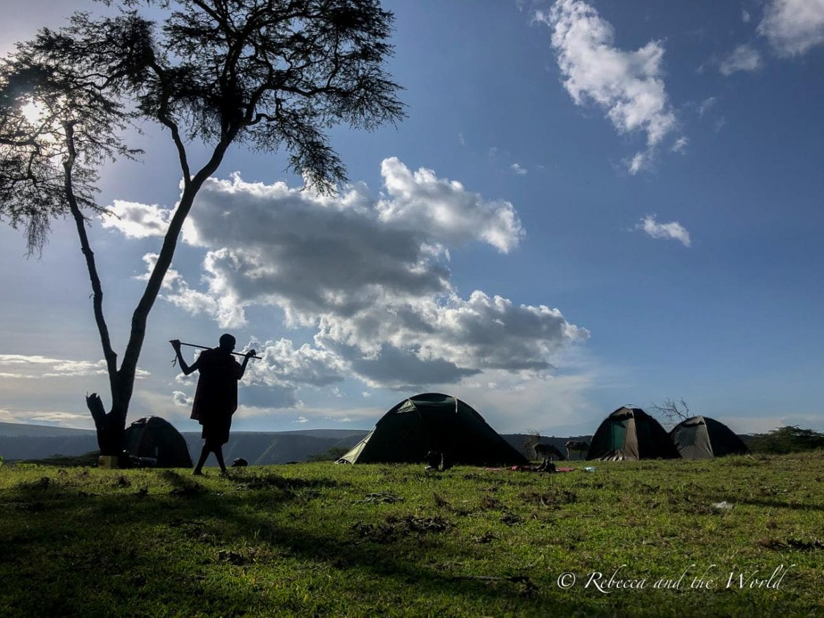 Acacia Forest Camp is the camping spot for night 2 of the hike from Ngorongoro to Lake Natron