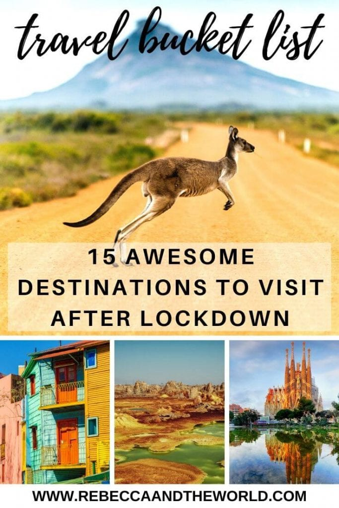 We may be in lockdown, but it doesn't mean you can't update your bucket list. Here are 15 dream travel destinations for when it's safe to travel again. | #dreamtraveldestinations #bucketlistcountries #bucketlistdestinations #bucketlist